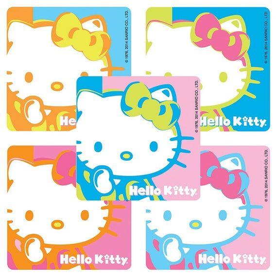 12 Sanrio Hello Kitty Temporary Tattoos Kid Birthday Party Goody Bag Favor