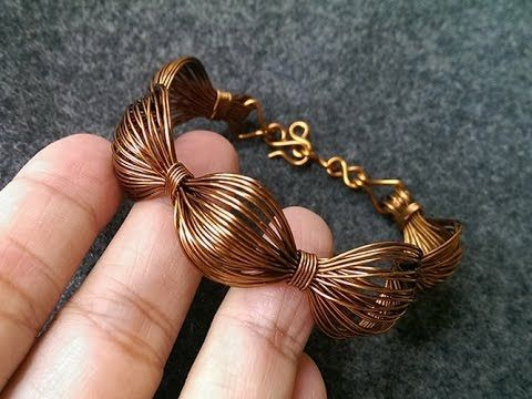 Wire bracelet - How to make wire jewelery 243