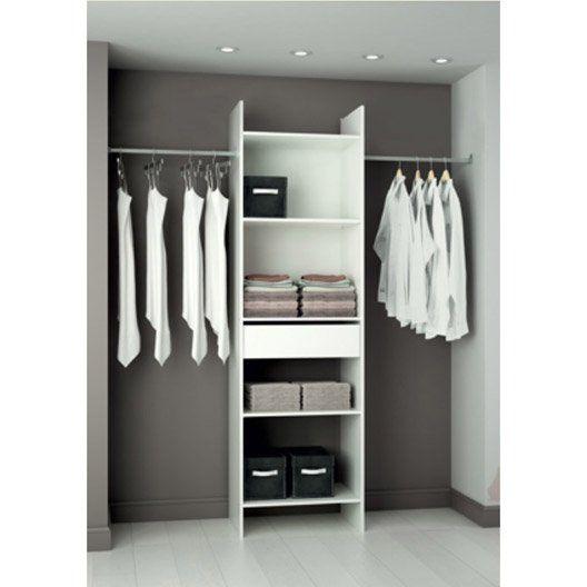 Kit dressing blanc Modul'eco, H203 x L180 x P40 cm