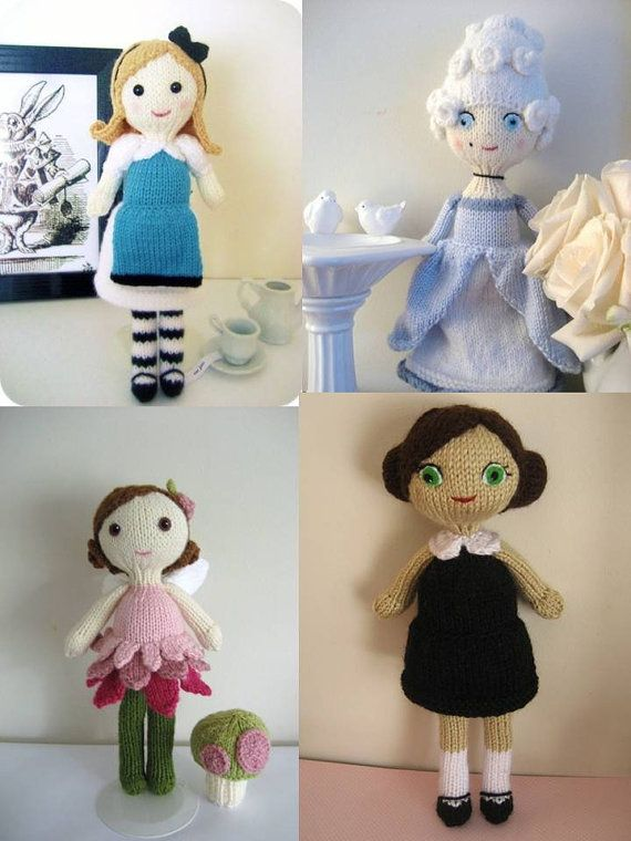 Knitting Pattern Central Amy Doll : 18 best Knit Doll Patterns images on Pinterest