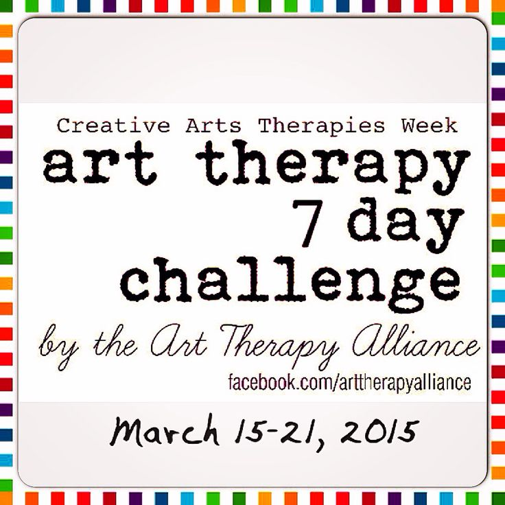 In celebration of Creative Arts Therapies Week 2015, the Art Therapy Alliance is reviving its Art Therapy Challenge from March 15-21! Look for Challenge Prompts to be posted on Pinterest throughout #CATW2015...