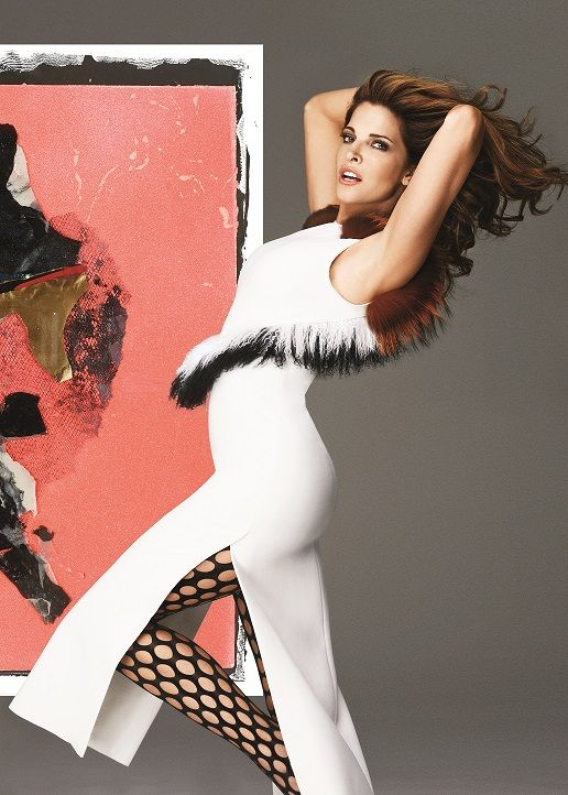 Stephanie Seymour for The Room Fall/Winter 2015. Featuring art by Christopher Beckman.
