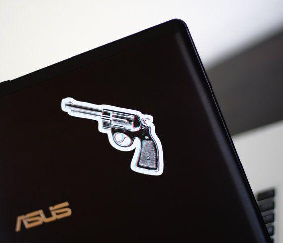 Red White & Blue 3D Revolver sticker by HoneysDead on Etsy, $2.50 #3D #revolver #guns #vinylstickers