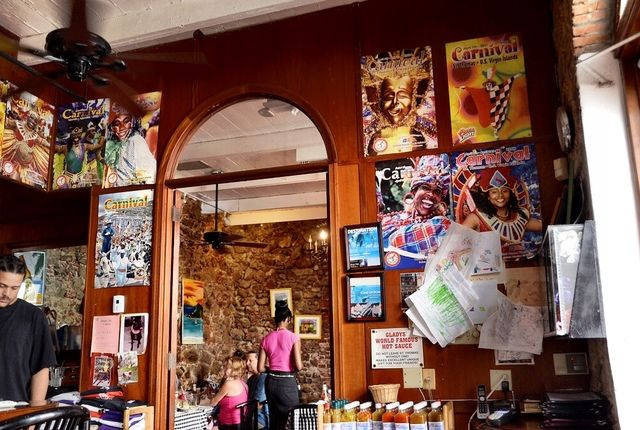 One of my favorite places to eat in Charlotte Amalie, St. Thomas is Gladys' Cafe. Serving up local Caribbean fare it's hard to go wrong at this local eatery.