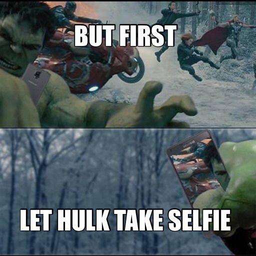 Hulk takes a selfie