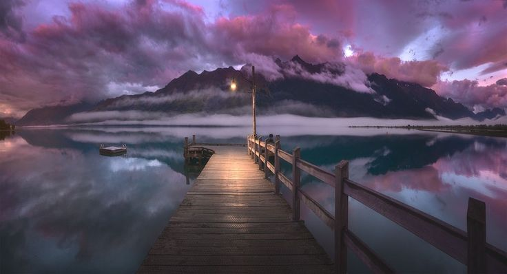 Pink Sunrise at Glenorchy Jetty