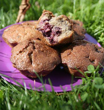 Muffins aux mûres - les meilleures recettes de cuisine dÔdélices