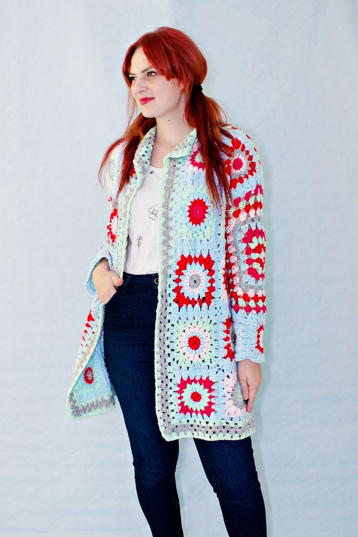Crochet Granny Square Sweater Pattern : 17 Best images about LRS on Pinterest Utrecht, Sewing ...