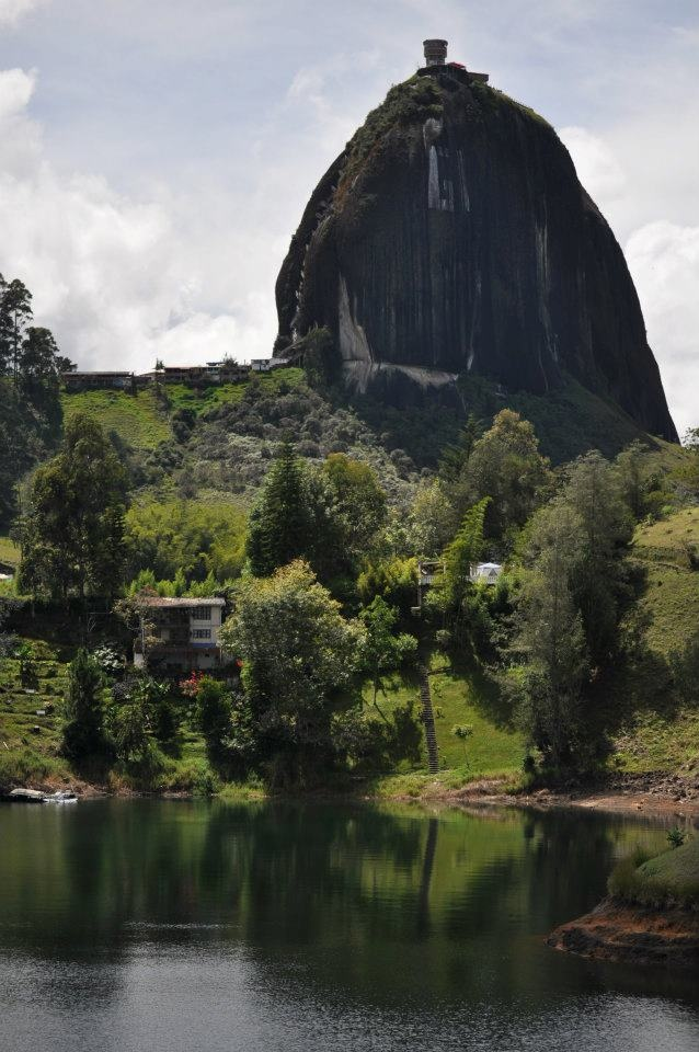 Guatape: forest, water and rocks