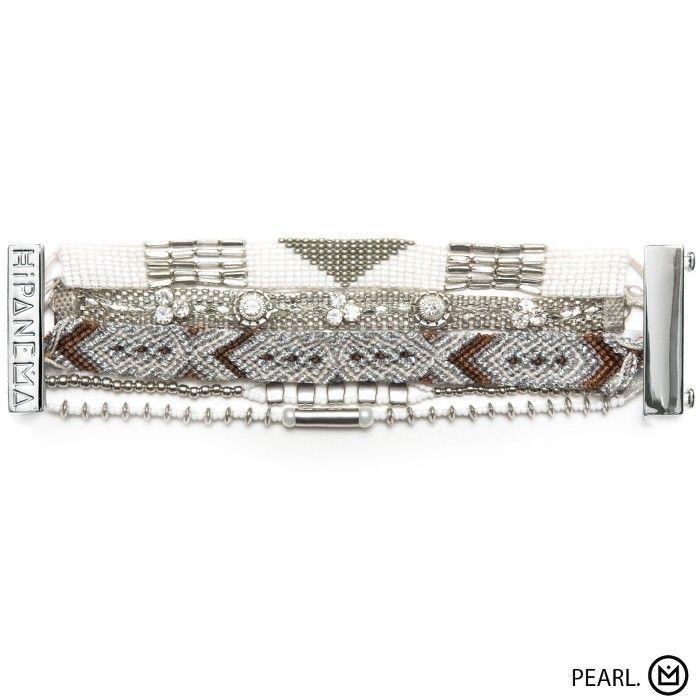 Bracelet Pearl Hipanema collection été 2015 - à retrouver sur www.lilishopping.com/fr/ - #bracelet #manchette #cuff #hipanema #summer