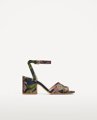 Image 2 of EMBROIDERED HIGH HEEL SANDALS from Zara