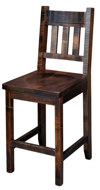 Sit down and appreciate the craftsmanship that went into building the comfortable and stylish Deep Creek Counter Chair that is available in two sizes.