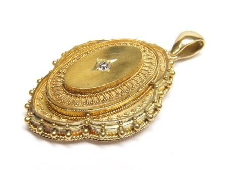 Victorian gold and diamond locket/pendant Circa 1870-80