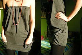 Idee Regalo fai da te: Idea regalo originale: trasformare una t-shirt in miniabito