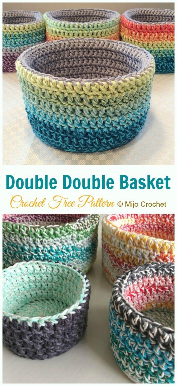 Double Double Basket Crochet Free PatternHowtomakes