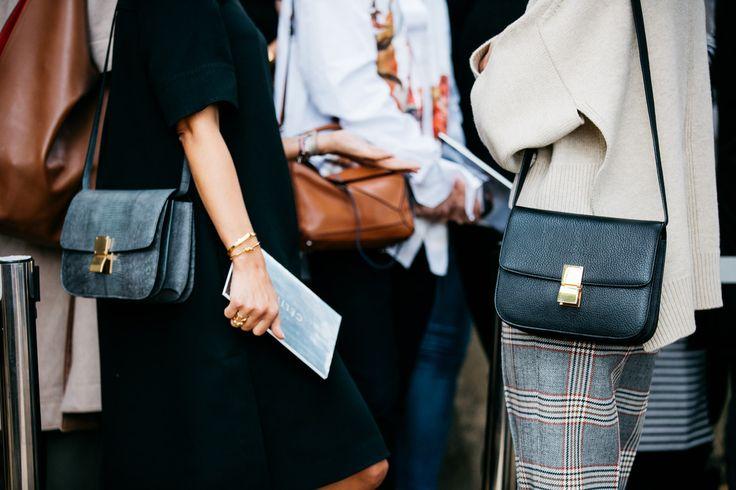 Street style à la Fashion Week printemps-été 2017 de Paris, sacs Céline