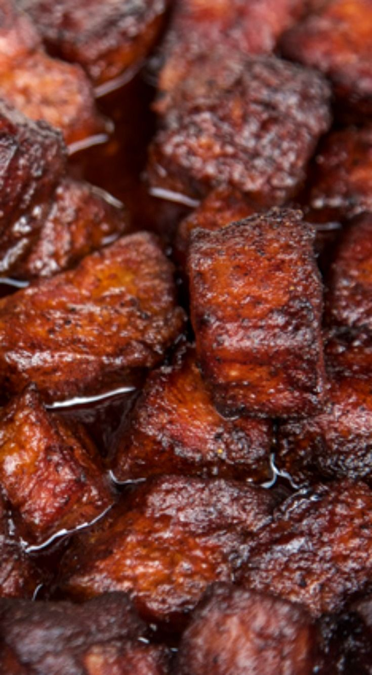 Smoked Pork Belly Burnt Ends (recipe and video) ~ Super tender, full of flavor and so easy to make