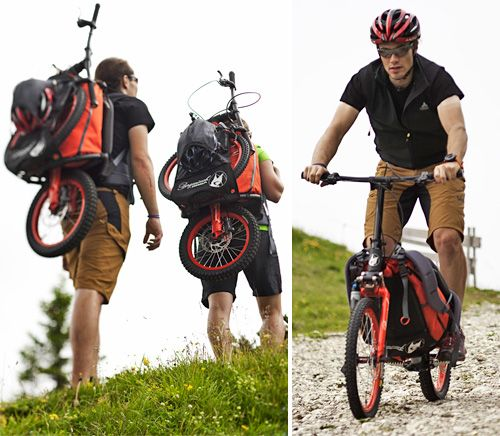 Backpack scooter