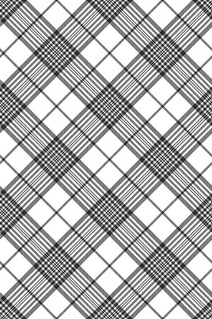 Black and white vector patterns texture. Tartan plaid wallpaper patterns. Scotti…