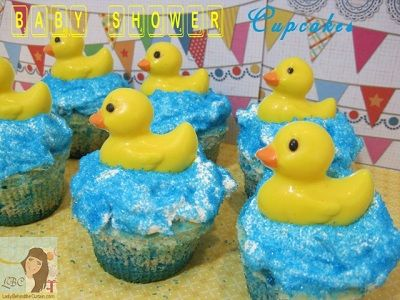 Rubber Duckie Baby Shower Cupcakes