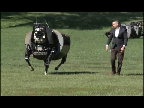Robotic Mule – SL3 Legged Squad Support System | Cool New Autonomous Robot - The Beginning of Skynet?  **these robots are REAL.  Sci-Fi into Reality!
