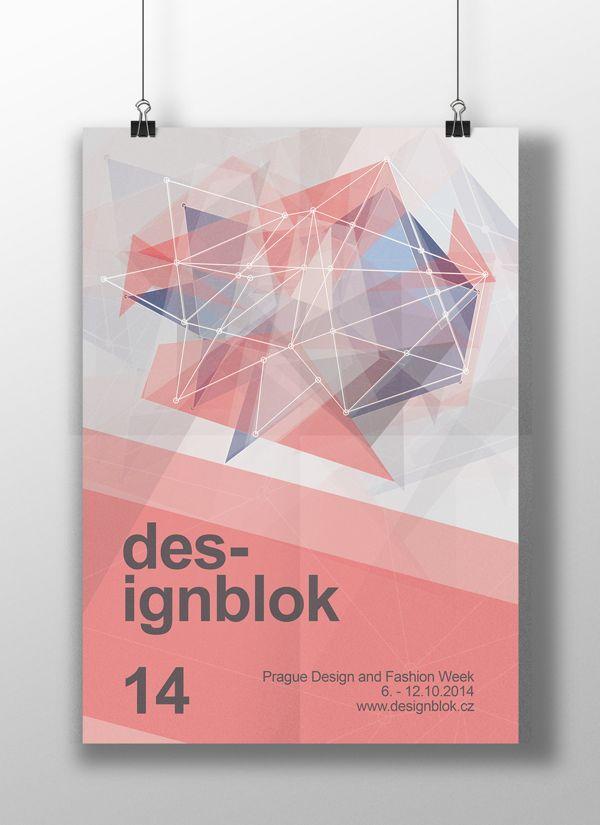 Geometric poster design for Designblok 14 on Behance by Jana Vrabcová