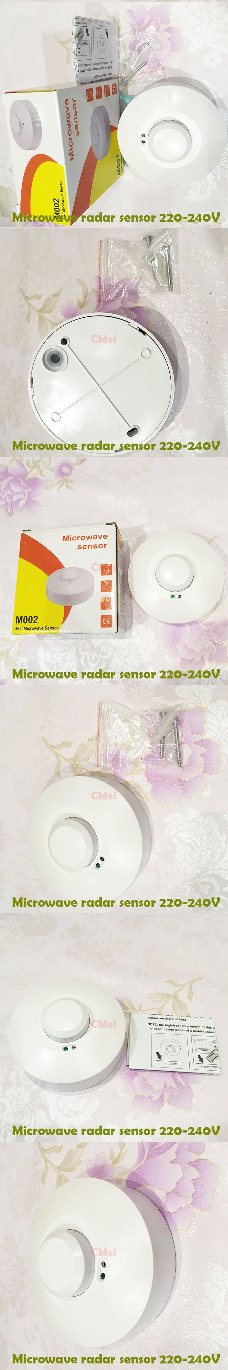 New Electric Unit Automatic Microwave Radar Sensor Light Switch PIR Ceiling Body Motion Detector 220V 1200W  Free shipping 1YY