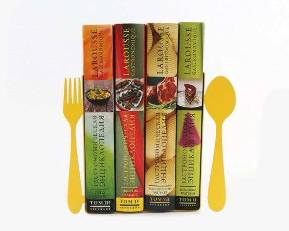 Decorative Metal Kitchen Bookends   Fork And Spoon   Will Clearly Mark What  Kinds Of Books Are In Between.