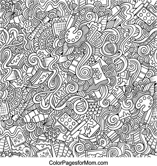 Doodles 28 Coloring page