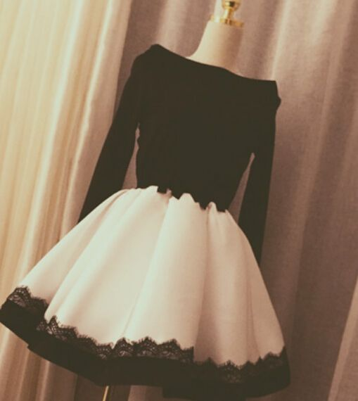 White And Black Sexy Short Party Dresses, Sexy Dresses, Prom Dresses, Homecoming Dresses, Graduation Dresses