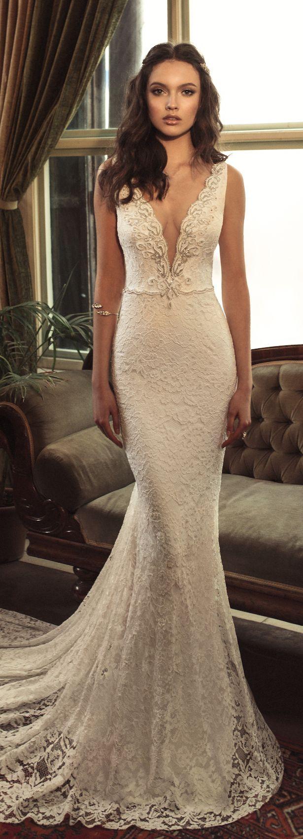 25 best ideas about plunging neckline on pinterest for Plunge neck wedding dress