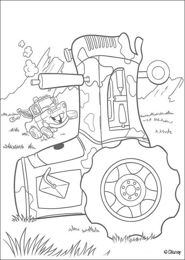 Mater Truck And A Tractor Coloring Page