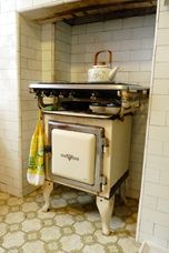 Metters Early Kooka, stove and gas hot plates. I learned to cook on this antique, ours was green. You gauged the temperature by the height of the gas flame. Yes really.