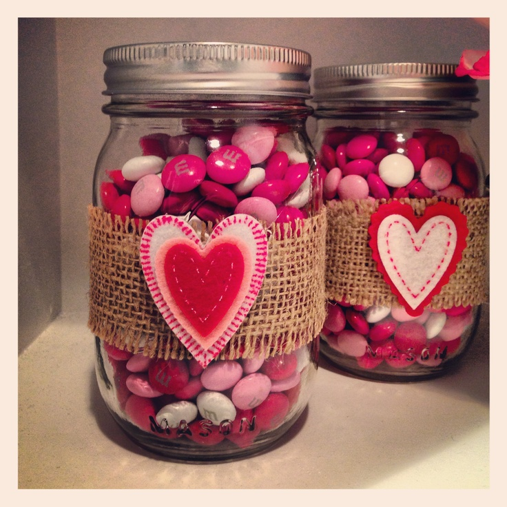A Valentines Mason Jar filled with treats for your sweets! $10.00