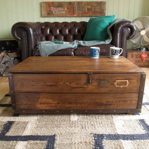 Pine Coffee Table Trunk: INDUSTRIAL-stripped-PINE-plank-CHEST-trunk-FACTORY