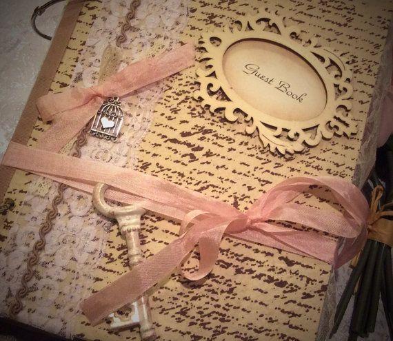 Livre d'or de mariage inspirés Vintage