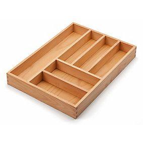 Schubladeneinsatz, in zwei Ausführungen erhältlich. Mit einem Rahmen aus massivem Buchenholz, geölt. Bodeneinsatz... - Besteckeinsatz Buchenholz
