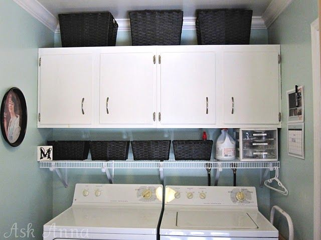Laundry Room Redo Ideas: Cabinets, Wire Shelves, Laundry Organization, Laundry Rooms Organizations, Room Ideas, Rooms Ideas, Laundry Room Organization, Laundry Room Makeovers, Laundry Rooms Makeovers