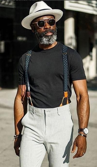 How to wear suspenders, stylish men, men casual, fashion hats, fashion outf How To Wear Suspenders, Suspenders Outfit, Men In Suspenders, Suspenders Fashion, Stylish Men, Men Casual, Smart Casual, Mode Man, Best Mens Fashion