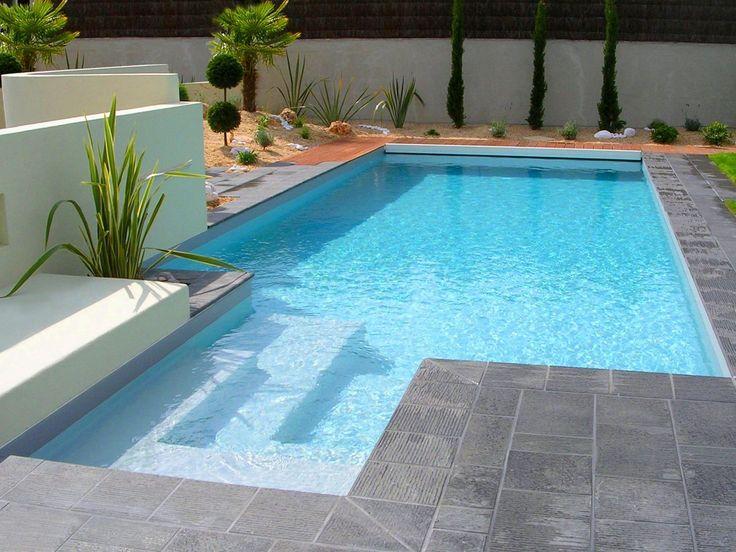 23 best images about escaliers de piscines on pinterest - Escalier d angle piscine beton ...