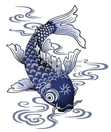Les 25 meilleures id es de la cat gorie dessin japonais sur pinterest dessins japonais art - Carpe koi dessin ...