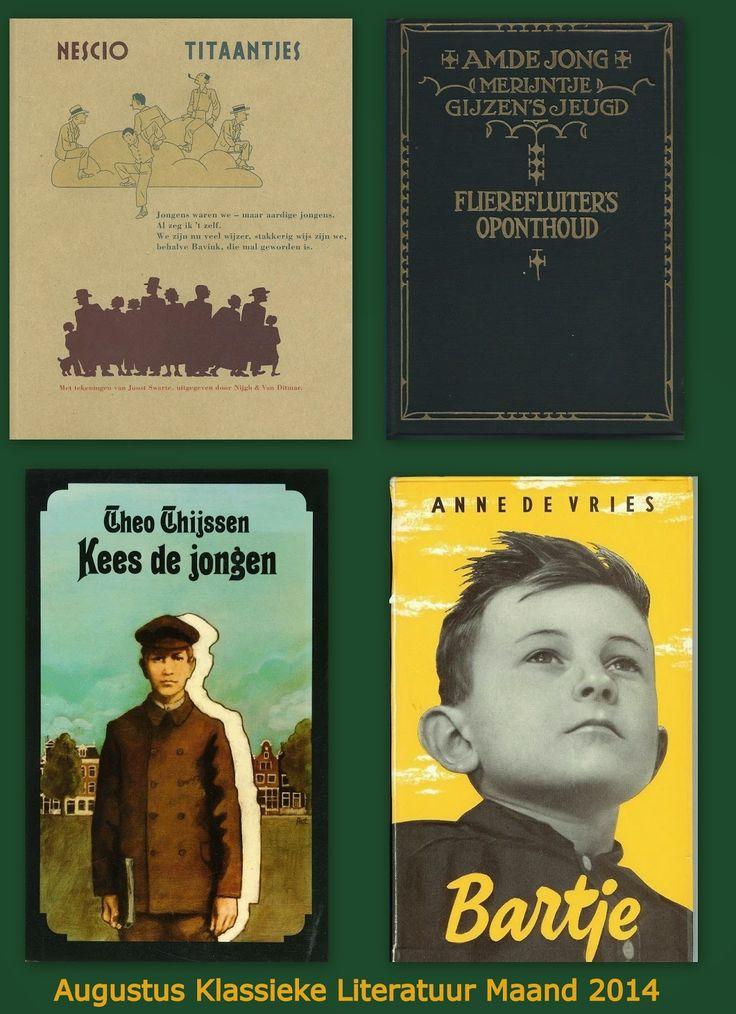 MIJN BOEKENKAST: Het Jongenskwartet: Augustus Klassieke Literatuur Maand 2014.  Ter afsluiting een vergelijking van de 4 Klassiekers over opgroeiende jongens begin 20ste eeuw.
