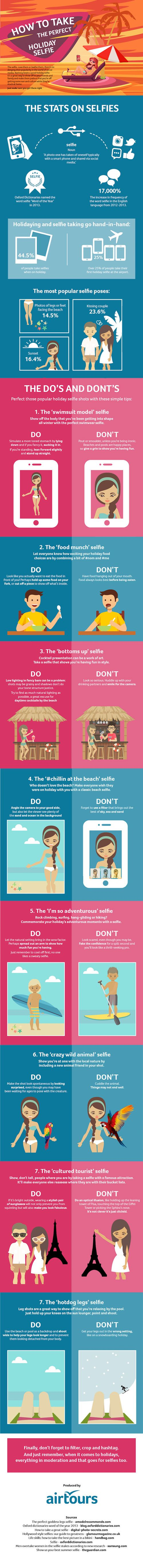 How to Take the Perfect Holiday Selfie {Infographic} - Best Infographics