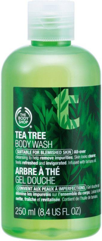 The Body Shop Tea Tree Body Wash... best wash for body acne.  EverydayStarlet.com @sarahblodgett (affiliate)