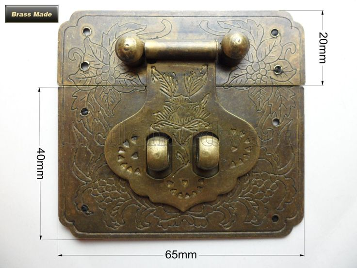 65 mm x 60mm Brass Made Chinese classical vintage Plant pattern lock catch latches for Jewelry  box #LC0087 by LittleHardware on Etsy