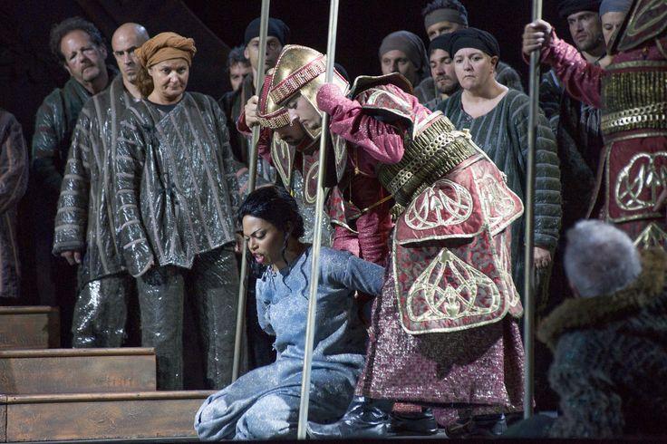 Liù (Kristin Lewis) captured by the guardians.