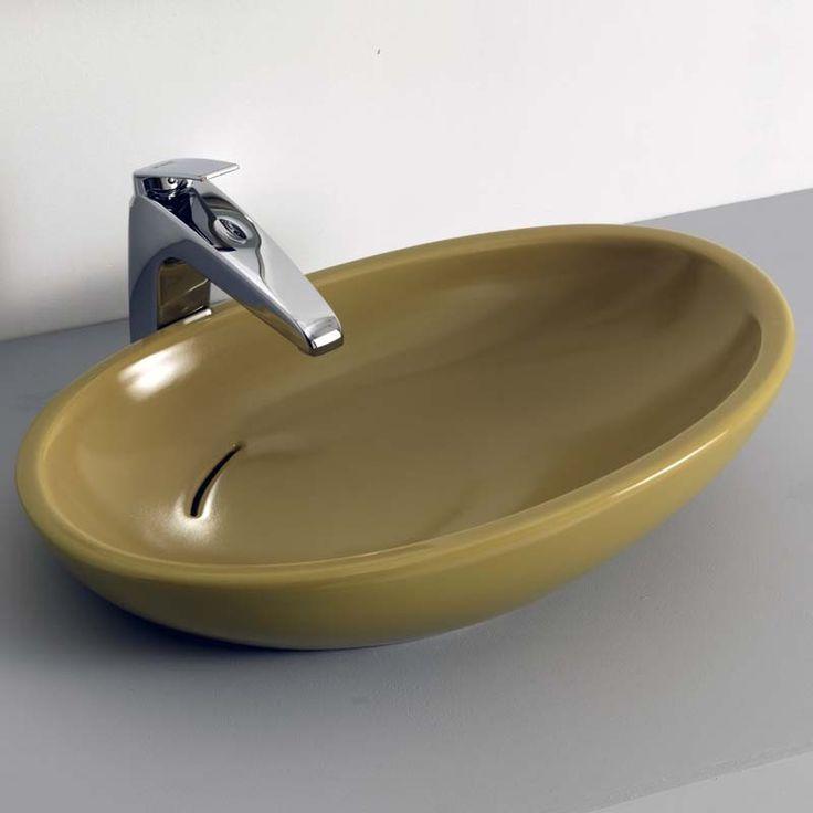 Biko lavabo da appoggio verde