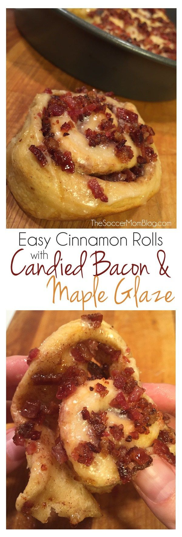 Pillsbury Cinnamon Rolls with Candied Bacon ...need I say more? This dessert is almost too delicious for words, and it's EASY! #ad