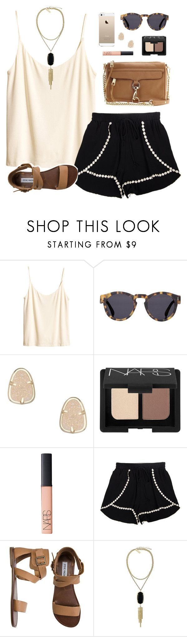 """""""birthdayyyy (:"""" by classically-preppy ❤ liked on Polyvore featuring H&M, Illesteva, Rebecca Minkoff, Kendra Scott, NARS Cosmetics and Steve Madden"""