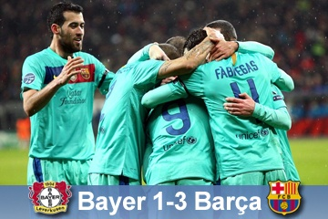 Champions leage game Bayer - Barça